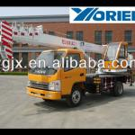 7ton small hydraulic truck crane for sale, telescopic boom 24m-