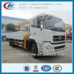 Famous brand Dongfeng tianlong truck with crane 10 ton for hot sales
