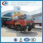 Famous brand Dongfeng 6x4 8tonscargo crane truck with winder for hot sales
