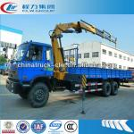 Excellent 10Tons knuckle boom crane on Dongfeng truck