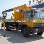 Dongfeng 12tons flat bed truck with crane 6.3tons for hot sales