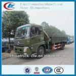 Dongfeng 4X2 180hp crane truck 4tons kuncle boom truck