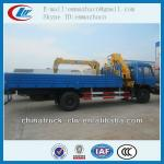 Dongfeng 4x2 170hp XCMG crane truck 6.3tons for sales