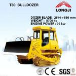 Bulldozer T80 mini bulldozer for sale(Total weight: 8600kg, Engine power: 70kw)-