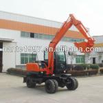 0.3m3 bucket capacity 6.5 Ton rubber tire wheel hydraulic excavator
