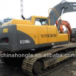 south korea used volvo 210b excavator low price for sale in good condition-