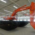 HK300SD amphibious excavator with long boom and big load capacity-