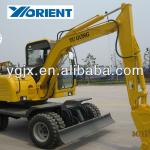 6ton hot sell hydraulic wheel excavator 4WD, construction machine in China-