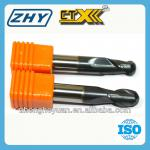 2 Flutes Solid Carbide Ball Nose End Mill For Milling Machine