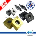 PCBN Inserts use for process hardened steel, hardened cast iron, grey cast iron and iron series metal work pieces.