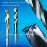 High wearability solid carbide drill bit for cutting super-hard materials