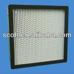 HEPA box type air filter for HAVC system