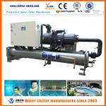 Water cooled semi-hermetic compressor open type chiller-