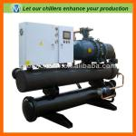 2012 efficient water cooled screw chiller made in China for molding-