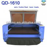 cotton/fabric cnc laser cutting machine/textile laser cutter QD-1610-