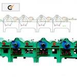 Four-roller Textile Waste Processing Machine For Cotton Waste-
