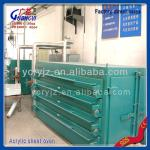 Acrylic sheets electric oven-