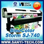 1440 DPI Printer DX7,SinoColor Storm SJ-740 (3.2m/1.8m 1440dpi ) with Epson DX7 Heads for Indoor&Outdoor-