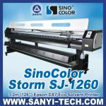 SinoColo SJ-1260---3.2 Meters Ourdoor & Indoor Printer With Epson DX7 Printhead (Eco Solvent Ink)-