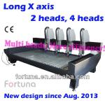 Fortuna DB2500S Long X axis and multi heads stone cnc router-