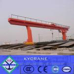 L Model mobile Single Girder Gantry Crane 20T with trolley for Sale