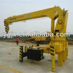 YGQYS5T Dongfeng chassis Three sections Pentagon telescopic boom 5ton truck mounted crane