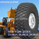 Radial loaders tyres, dozers tyes, OTR tyres 20.5R25 23.5R25 26.5R25 with Quality warranty; China golden tyr supplier-
