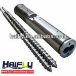 Screw barrel for plastic processing-