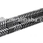 Rubber extruder screw barrel-